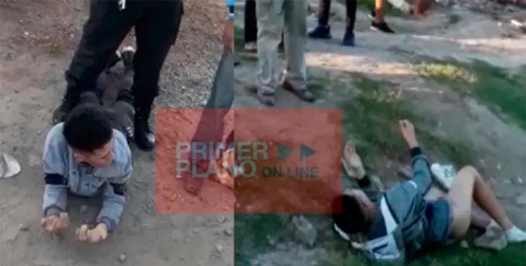 VIDEO Mirá el castigo de los vecinos a dos delincuentes que asaltaron a un comerciante   El Diario 24